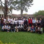 ルワンダ国立大学の学生とMPJユース