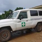 ガーナ ミレニアム・ビレッジ・プロジェクトのクリニック用の車