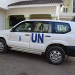 ウガンダ ミレニアム・ビレッジ・プロジェクト事務所で使用されている車
