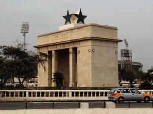【ガーナの首都アクラにある独立記念門】