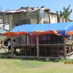 台風被害を受けた小学校