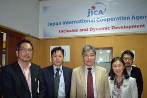 JICAケニア事務所にて、江口所長はじめみなさまと会談