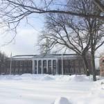 雪のハーバード大学