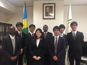 ルワンダ大使館を訪問したユース