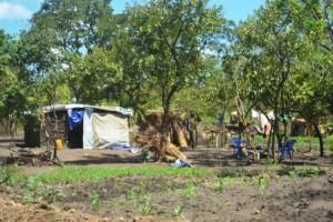 難民居住区の住居