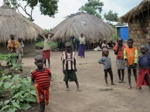難民の子供たちと住居