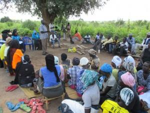 9月22日、ホストコミュニティに向けたSGBVに関する講習会の様子