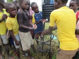 正しい手洗いを実践