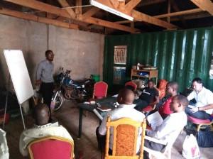 リロングウェの支援対象組合での講習会