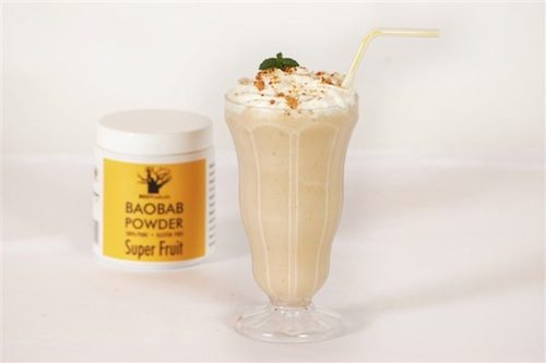 (参考:http://ecoproducts.co.za/recipe/baobab-and-banana-milkshake/)